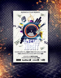 Electro Night Party Flyer by shahriyer