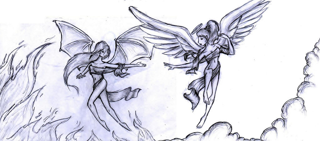 Angel Vs Devil by TwickyGirl on DeviantArt