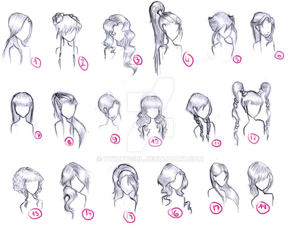 hair styles by twickygirl on deviantart