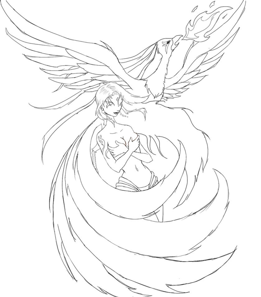 The Phoenix Lineart How Can I Color It By TwickyGirl