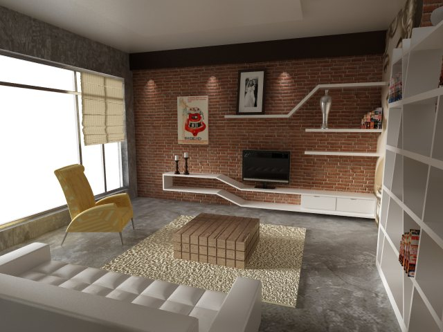 Living Room Red Brick By Dandygray On Deviantart