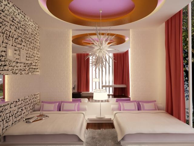 غرف نوم بناتيةةةة  Rendering_girls_room_pink_by_dandygray-d3ig07e