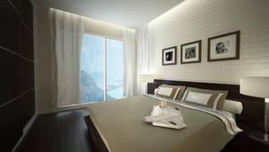 White Brick bedroom