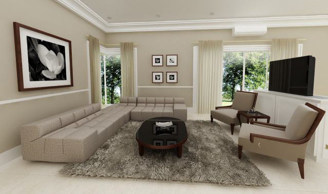 MODERN CLASSIC LIVING ROOM By Dandygray