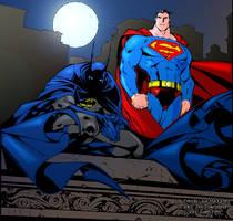 Batman Superman Colored by kftapout