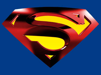 Superman Logo with Blue BG by kftapout