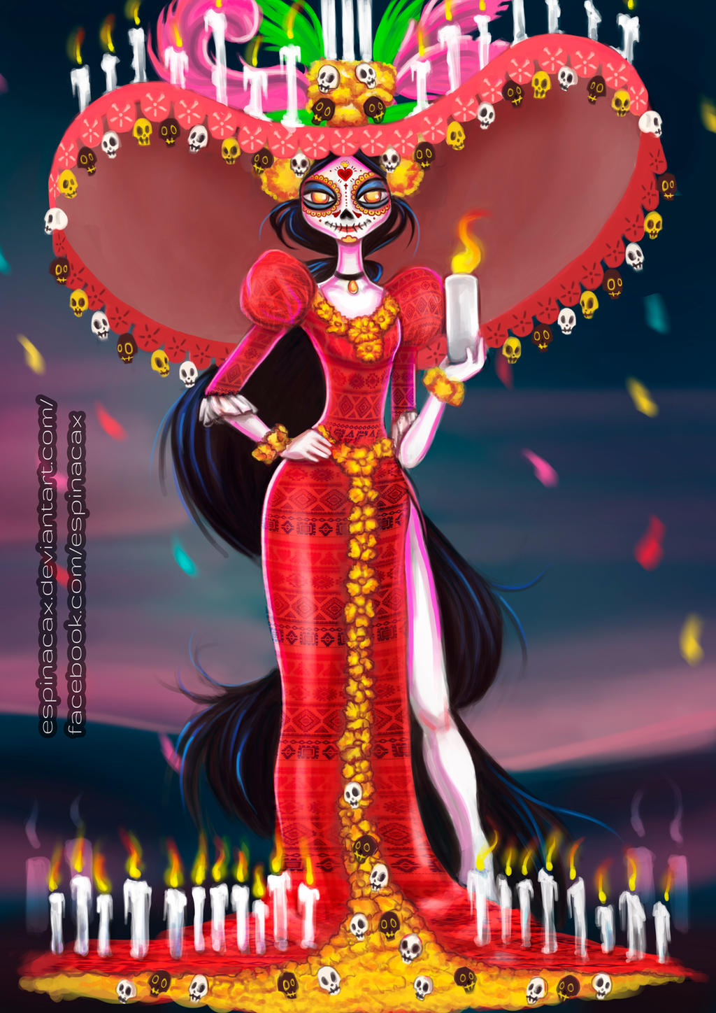 Book of life for coloring -  Catrina Book Of Life By Espinacax