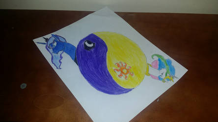 Celestia and Luna drawing by MysticRylo