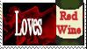Red Wine Lover Stamp by SilensTemplum