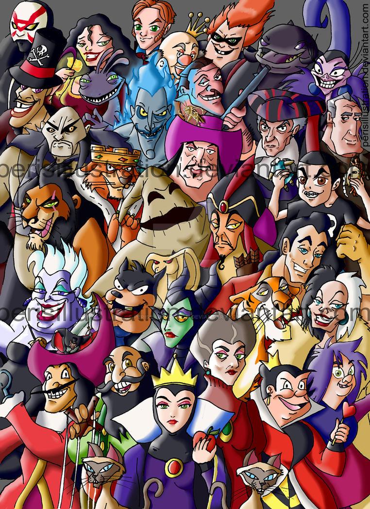 Disney Villians by PerisIllustration