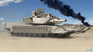 M1A2 Abrams on desert by Pixel3Factory