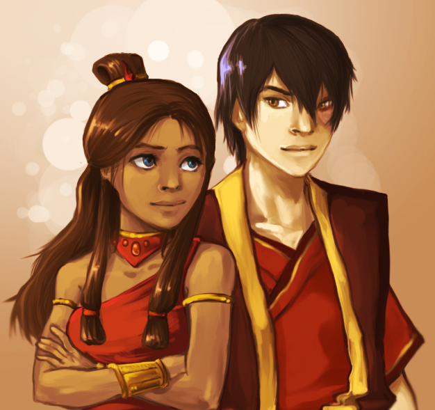 Zutara Fire Nation Style by elontirien
