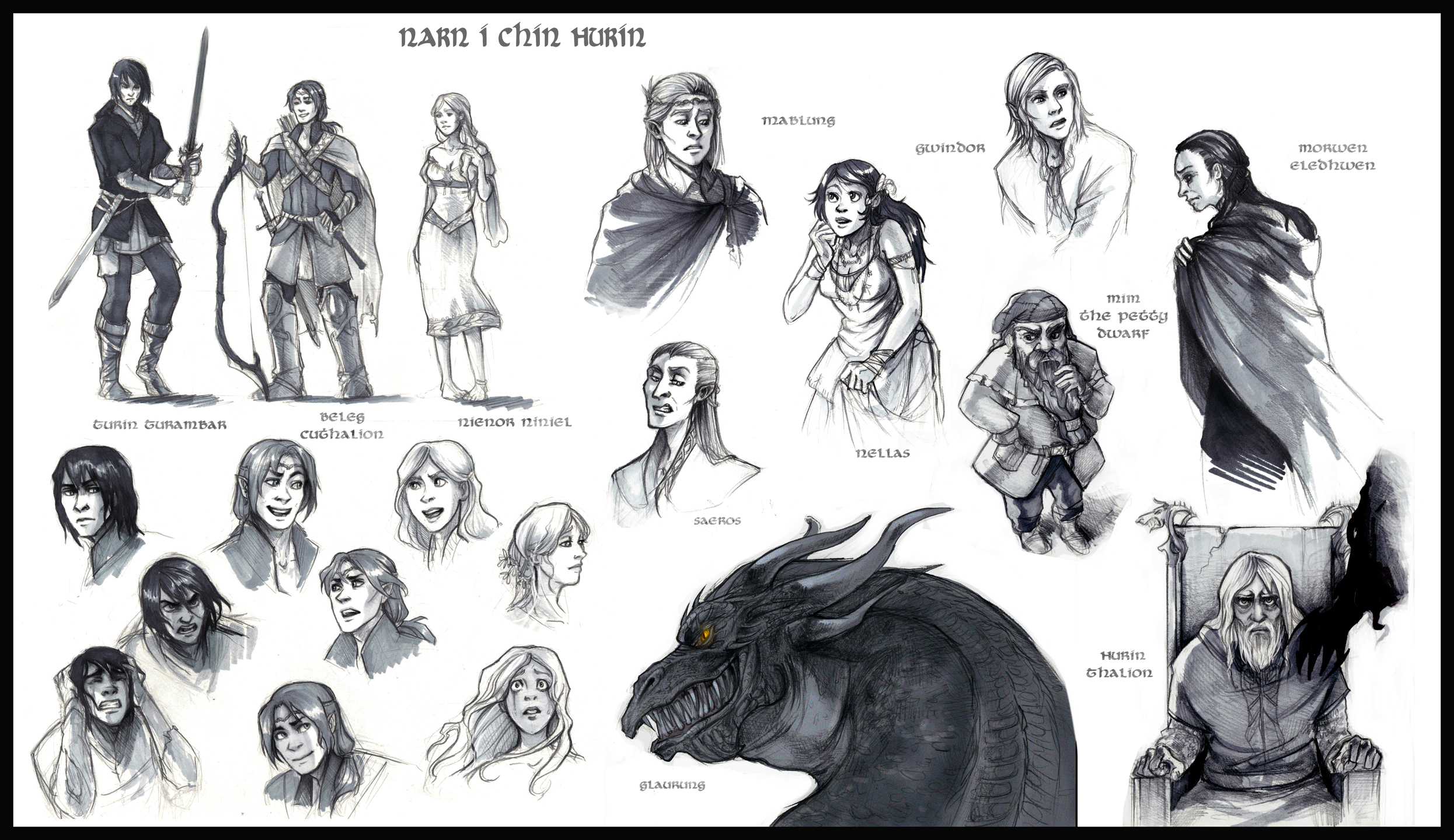 Narn i Chin Hurin Characters by elontirien