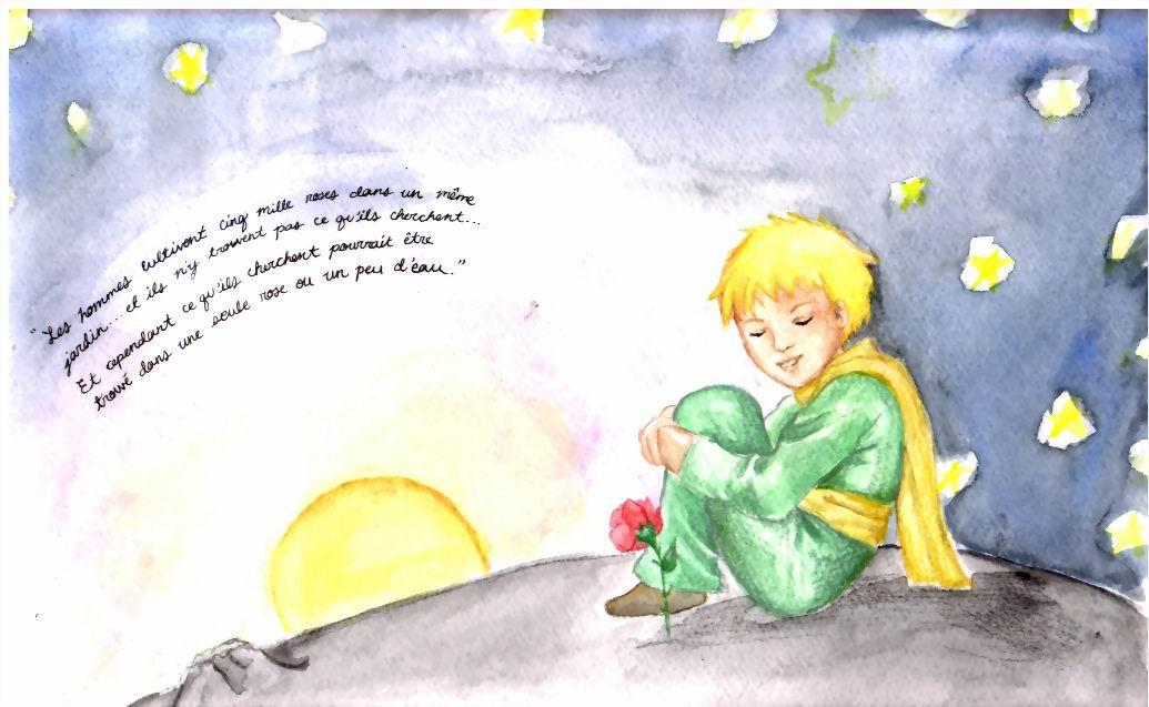 Le Petit Prince et sa Fleur by elontirien