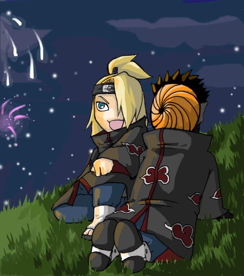 Tobi and Deidara- Fireworks by elontirien