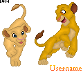 :auction: Simba and Nala Pixel by Secrets-Kept-Secret