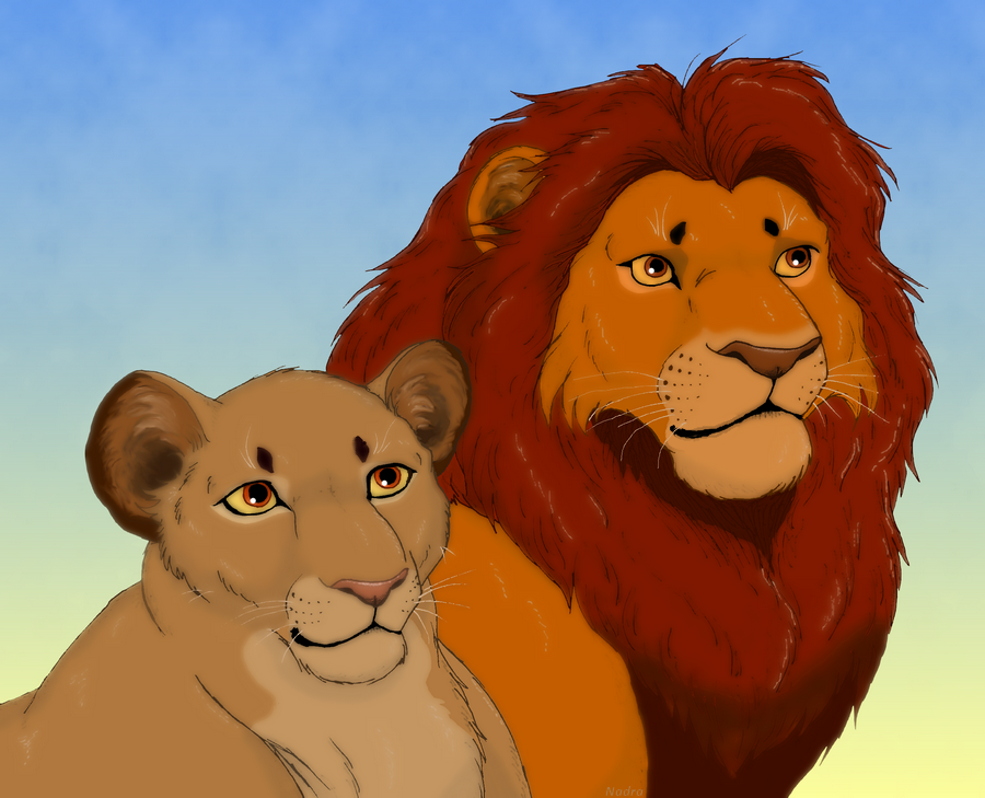 Sarabi and Mufasa by HydraCarina on DeviantArt