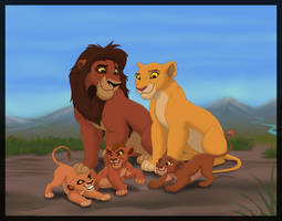 Kiara and Kovu's family by HydraCarina