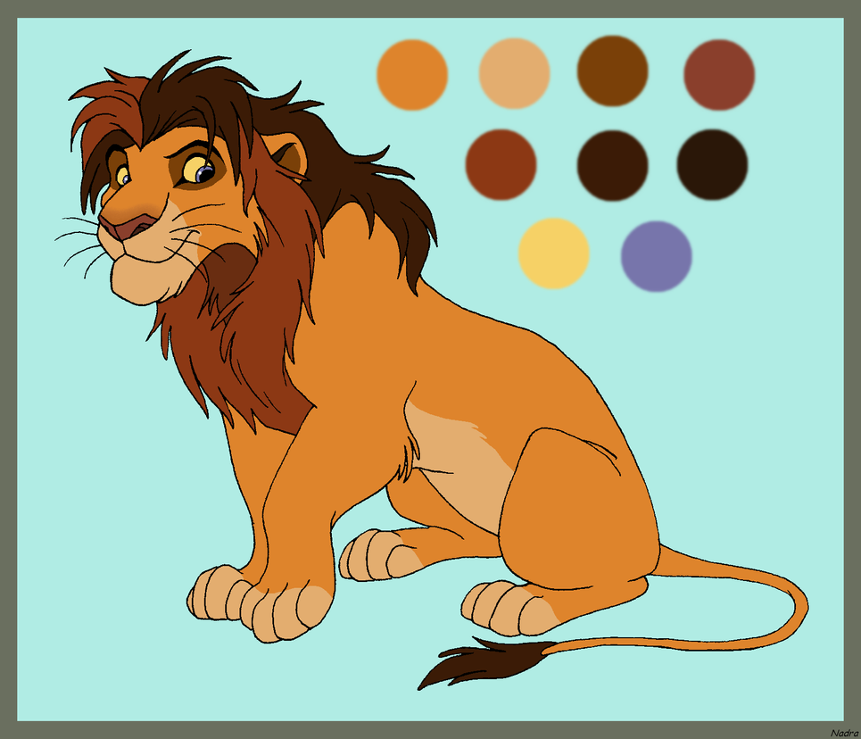 Lion Character for Mikaces by HydraCarina on DeviantArt