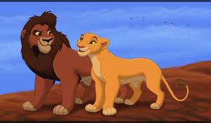 King Kovu and Queen Kiara
