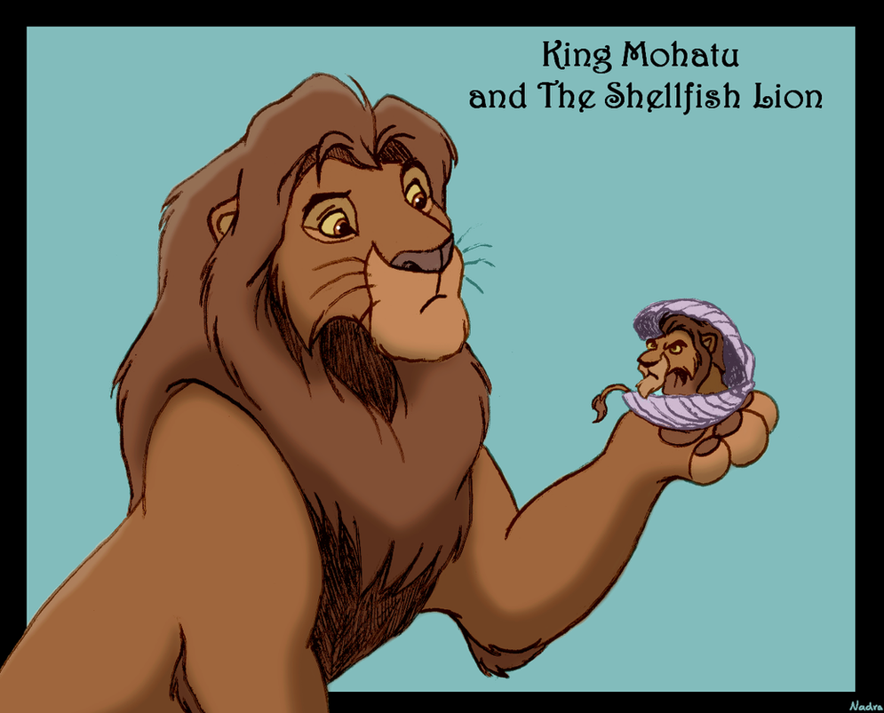 king_mohatu_and_the_s_h_el_l_fish_lion_by_hydracarina-dalaxbc.png