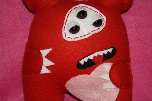 Henry the Heart Beast by Feltbetterplush