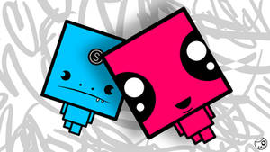 PS3 HD Wallpaper Pink and Blue