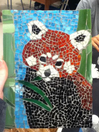 Red Panda Mosaic by lunar-neo
