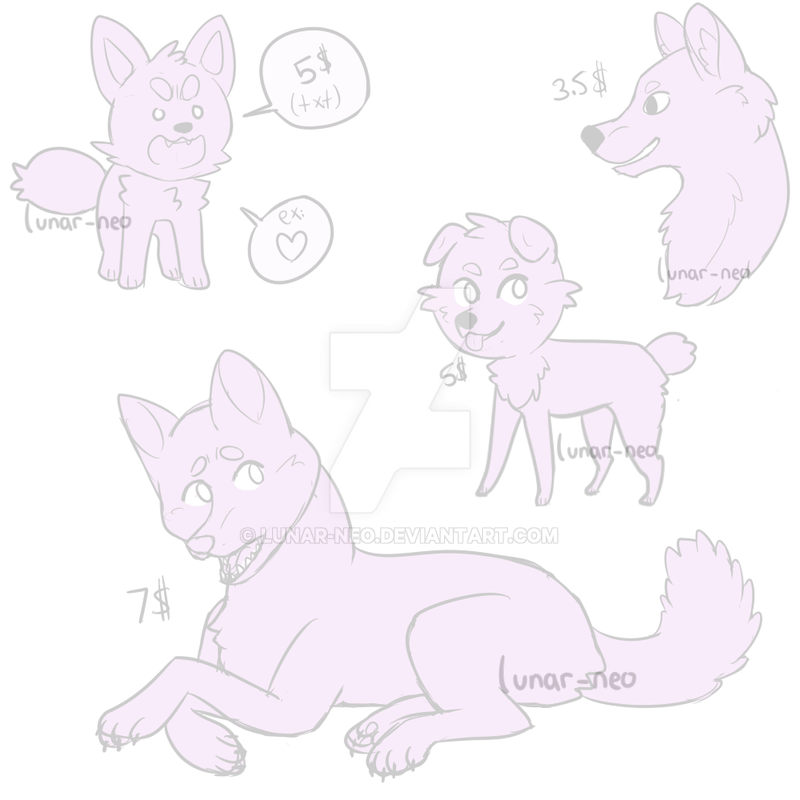 Ych Doggies (offer too) by lunar-neo