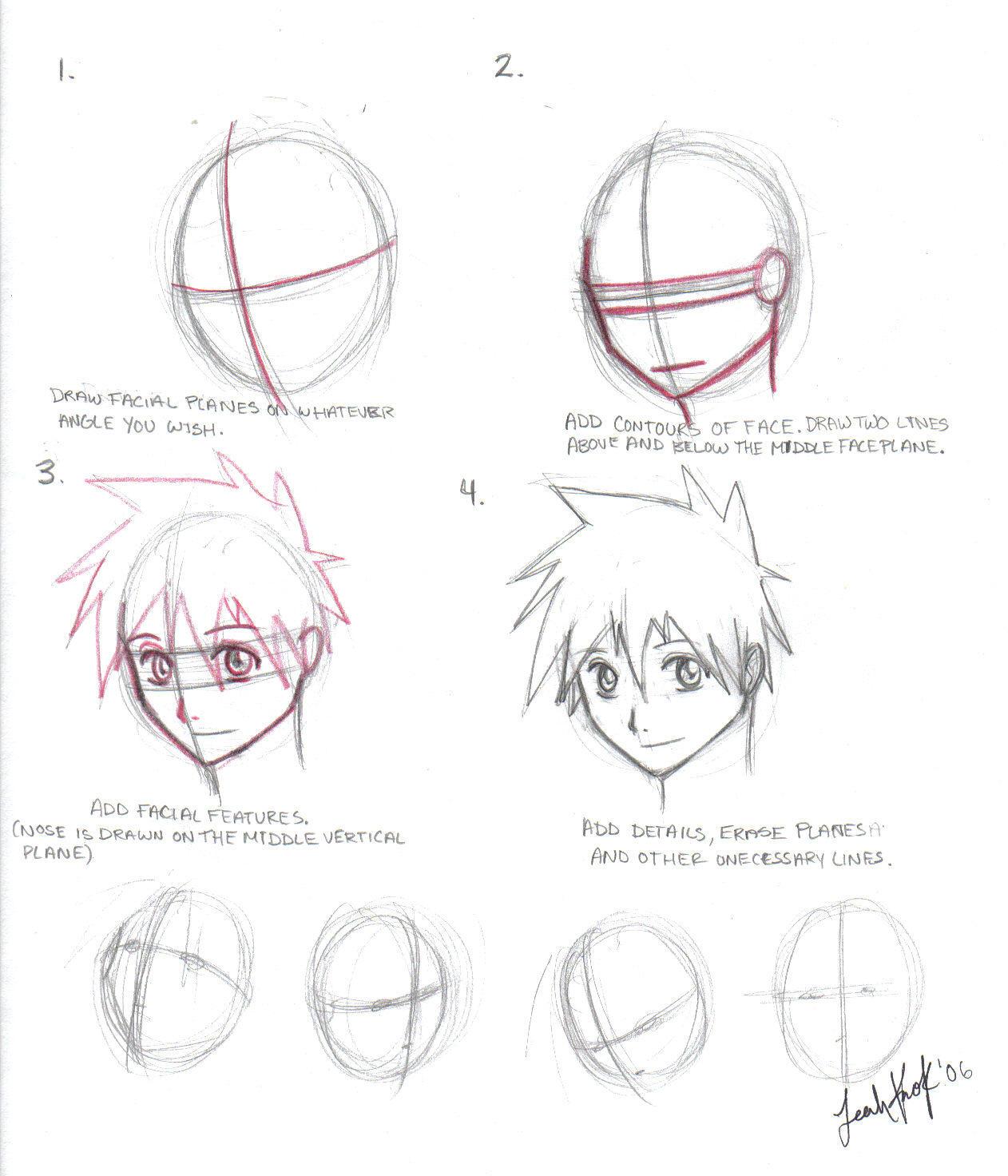 Scribble Drawing Tutorial : Head drawing tutorial by tiggstar on deviantart