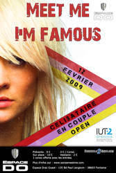 Flyer Meet Me I'm Famous by Ethenyl