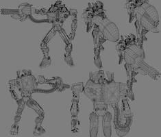 Deus Ex Wireframe by Kosmandis