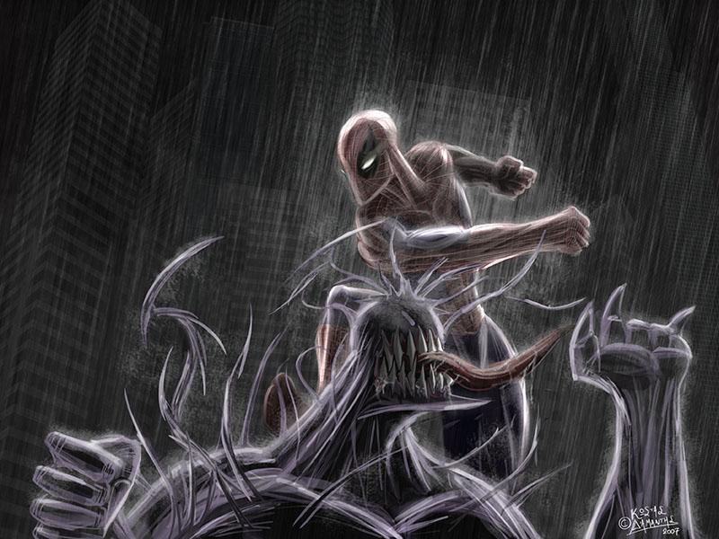 Spider-Man VS Venom by Kosmandis on DeviantArt