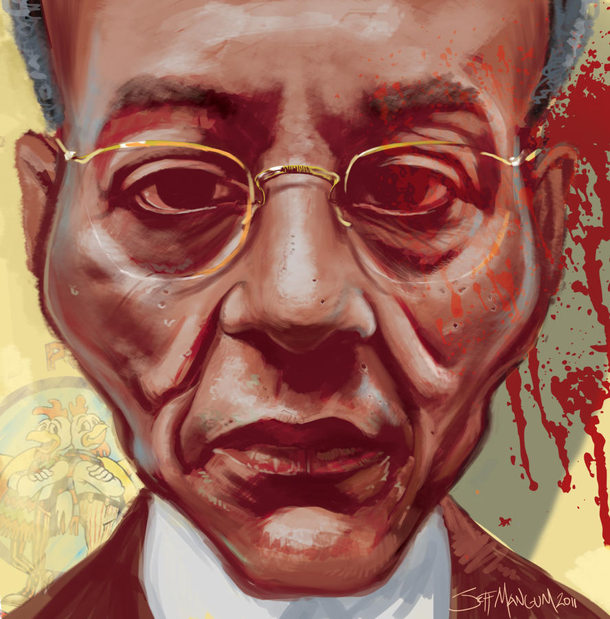 ' A Man Provides ' Gustavo Fring Caricat by Kalimon789