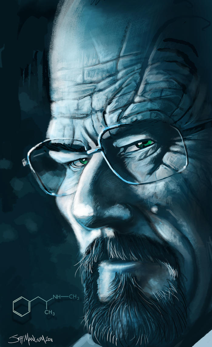 """ I Am The Danger"" Walter White Caricatu by Kalimon789"