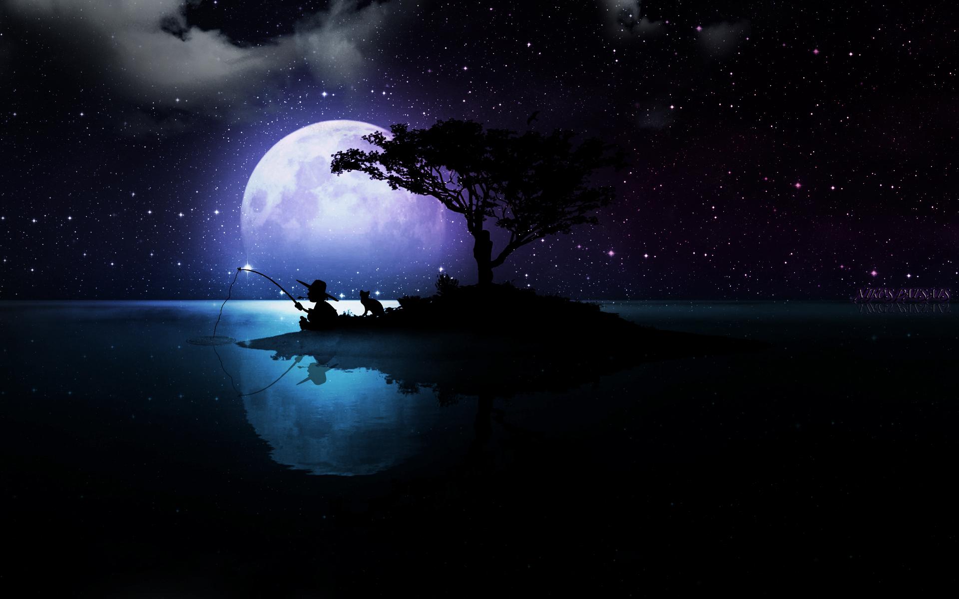 Фото луны и звезд для открытки