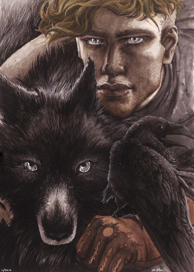 The Crow and the Wolf by RebekahSlusher