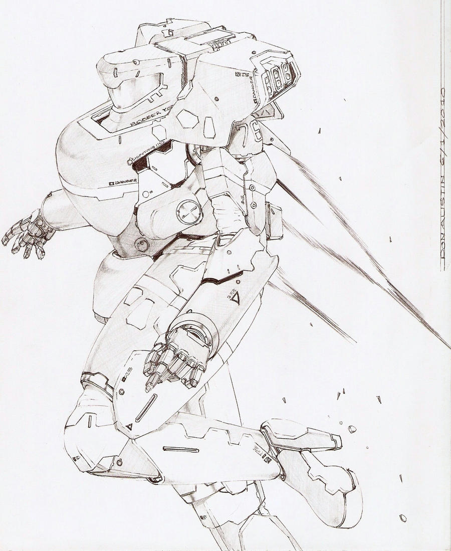 STARSHIP TROOPER SKETCH 1A by Dtronaustin