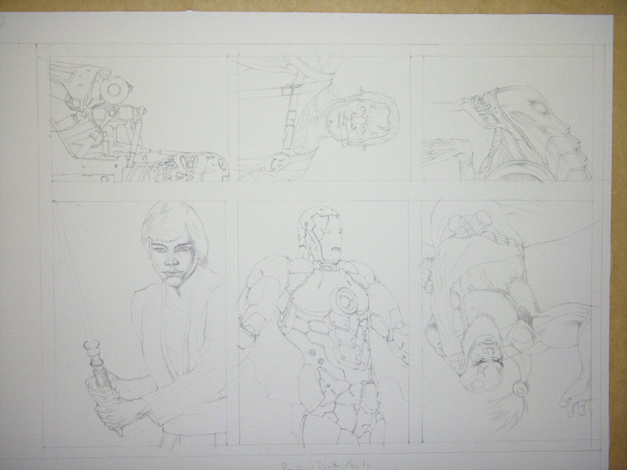 Fan art Sketch Cards pre paint by Dtronaustin