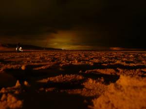 Surreal Beach at Night