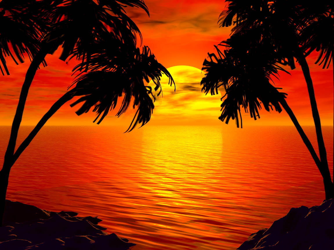 Tropical Island Sun: Another Tropical Sunset By Intothemoonbeam On DeviantArt