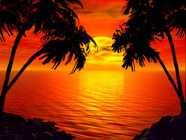 Another Tropical Sunset by intothemoonbeam