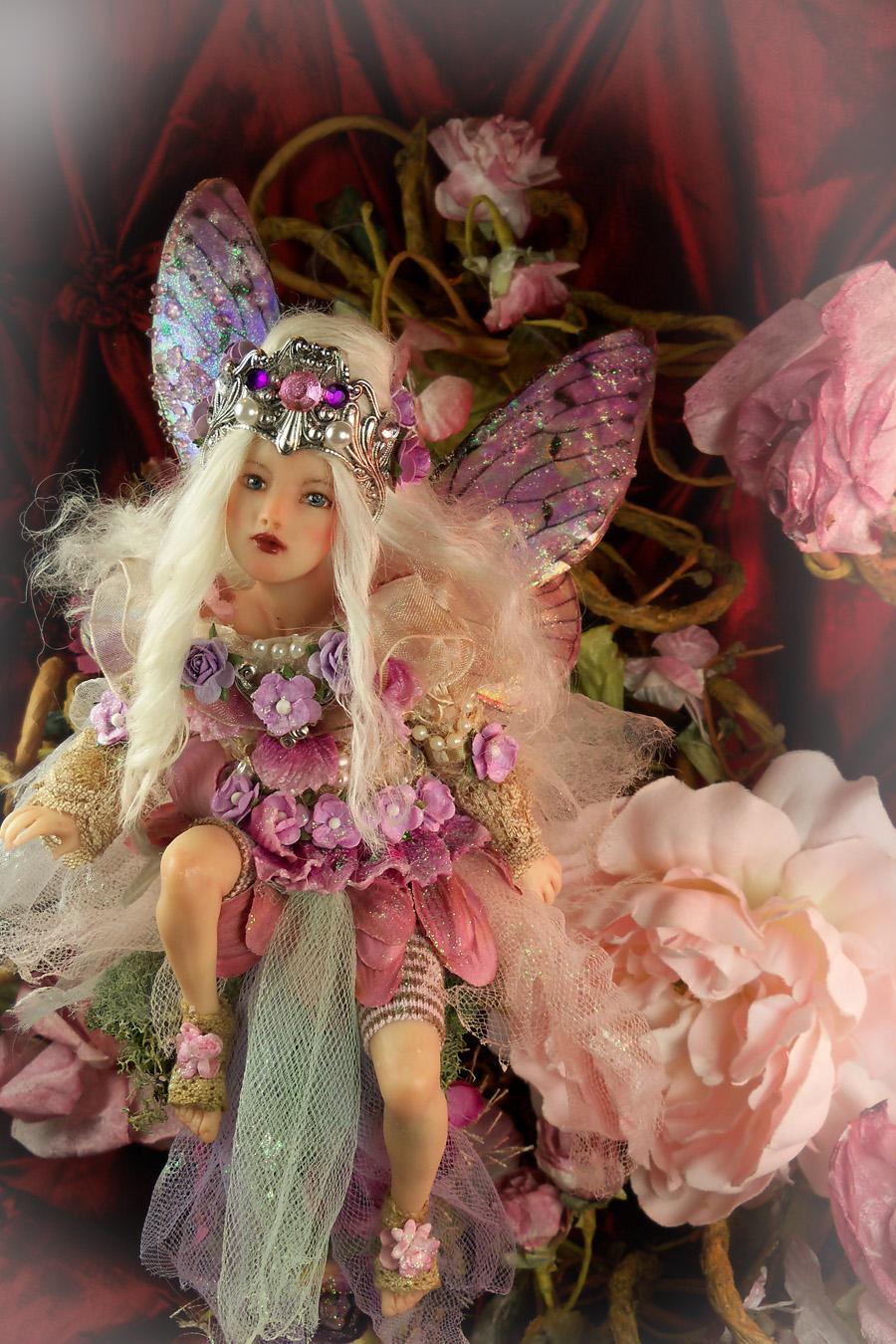 verona barrella ooak polymer clay art doll   fairy by veronabarrella image
