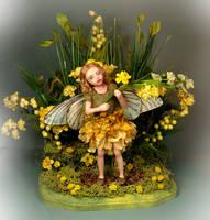 Verona Barrella OOAK Celendine Fairy Sculpture by veronabarrella