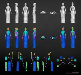 Star Wars Ep.4: Leia Ceremony Figure by Merkaba998