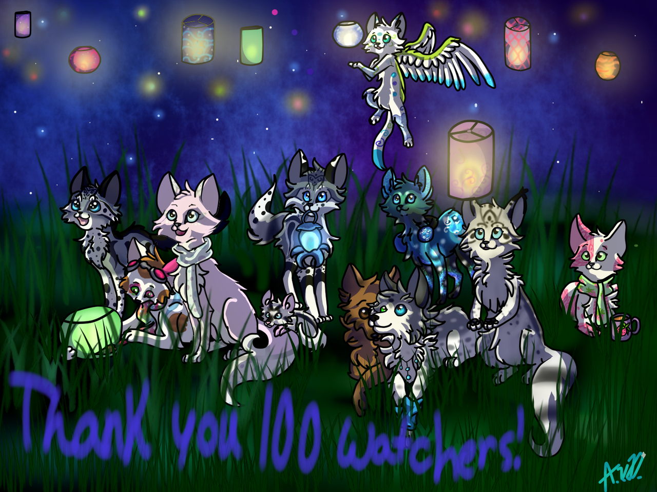Thank you 100+ watchers! by Warriocat12