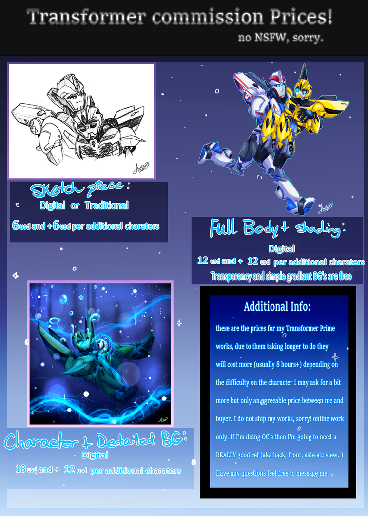 Transformers art commission prices by MidnightsBloom
