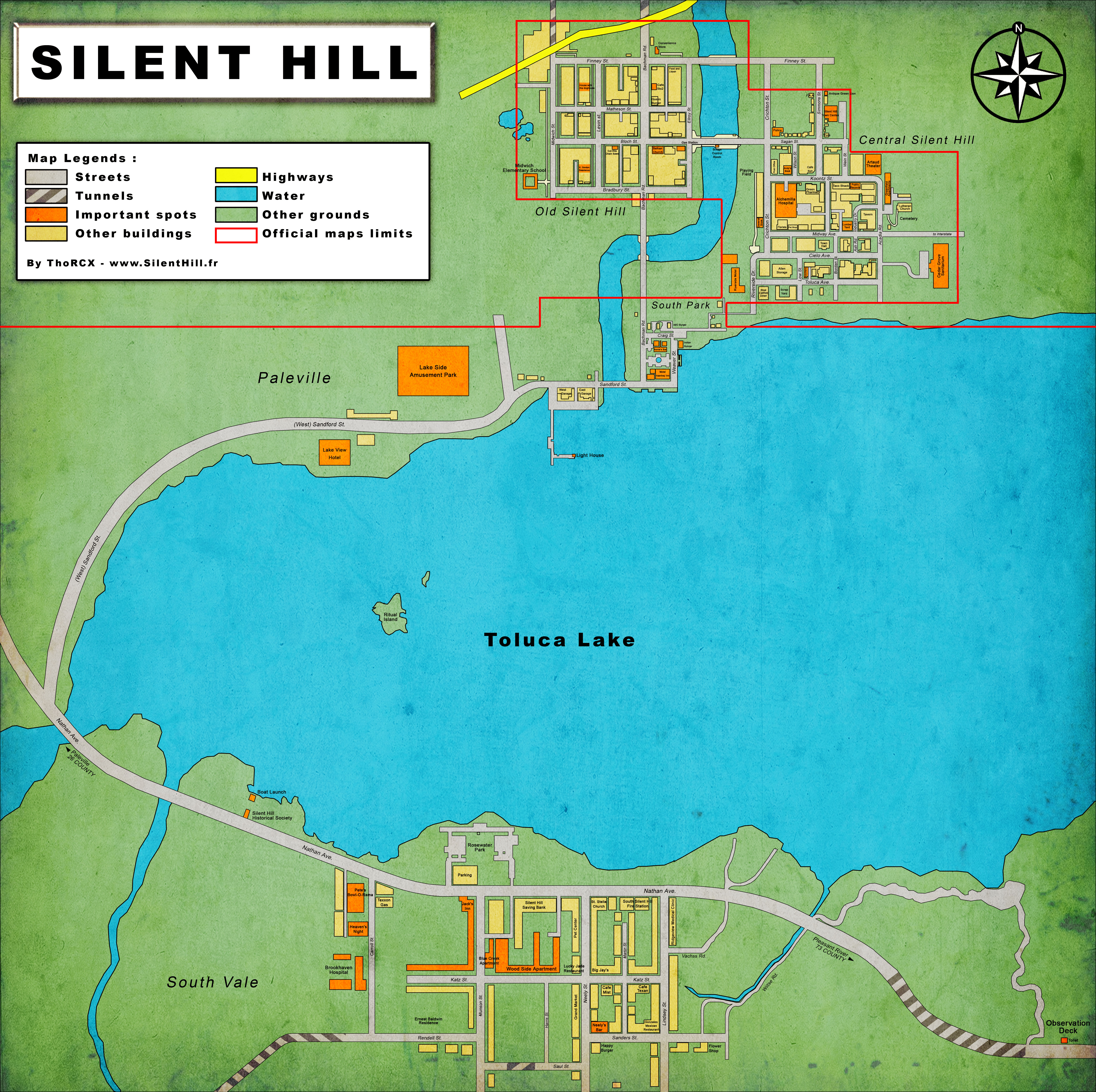 silent hill 2 map locations
