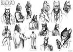 Blacksad sketches