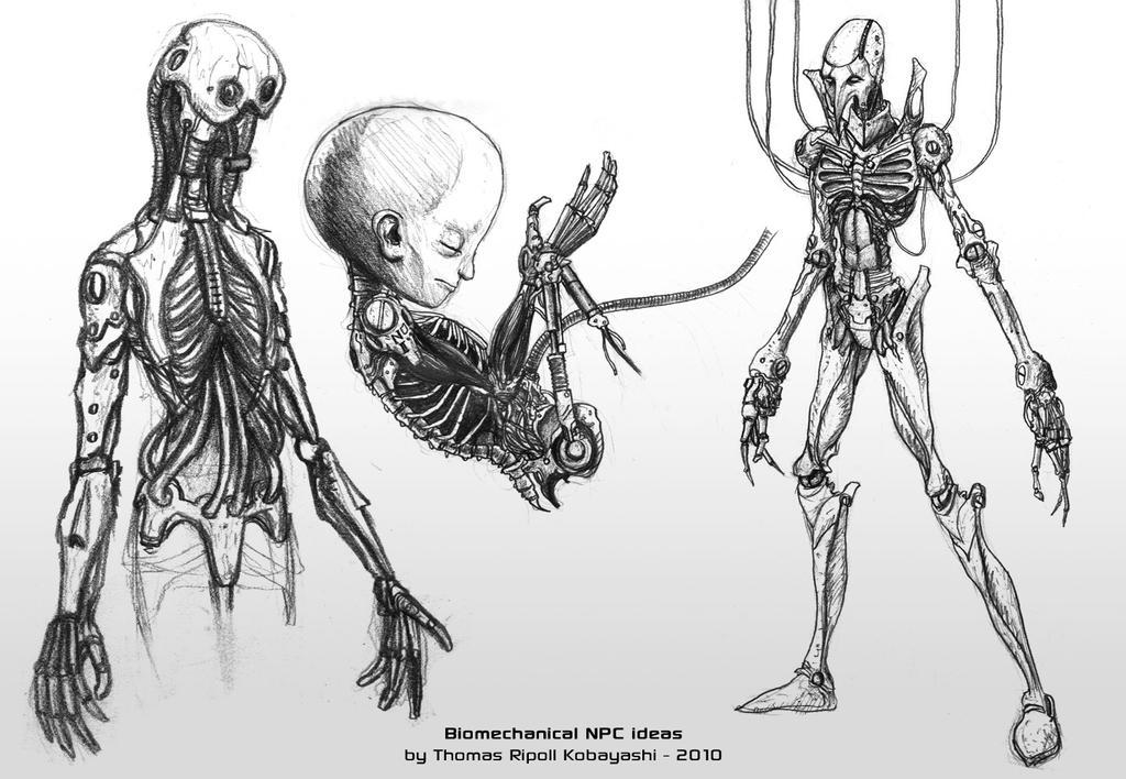 Iron Veins - Biomech NPC ideas by ThoRCX